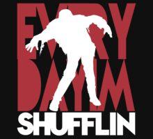 Zombie Shuffle (wht) Kids Tee