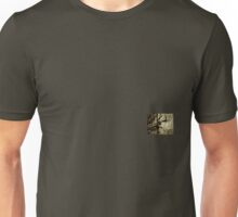 Don't Fence Me In 2 - Barbed wire on post in sepia Unisex T-Shirt