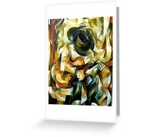 Blues on the porch Greeting Card