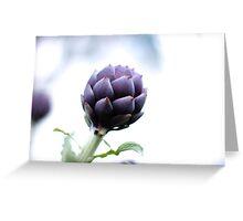 Purple Artichoke Greeting Card