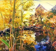 Home, Garden and Pond by moorezart