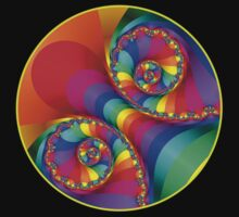 Beautiful Rainbow Spiral For Apparel  by KittyBitty1