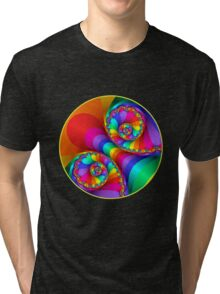 Beautiful Rainbow Spiral For Apparel  Tri-blend T-Shirt
