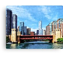 Chicago IL - Lake Shore Drive Bridge Canvas Print