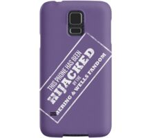 Hijacked by Feels - White Samsung Galaxy Case/Skin