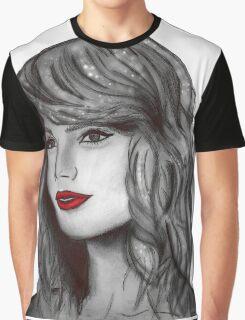 Taylor Swift Digital Portrait Graphic T-Shirt