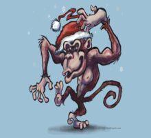 Christmas Monkey One Piece - Short Sleeve