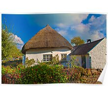 Ireland. Adare. Thatched Cottage. Poster