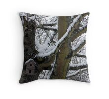 Winter Residence for the birds Throw Pillow