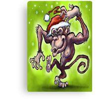 Christmas Monkey Canvas Print