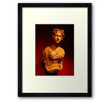 Figure head from the wrecked HMS Orpheus...........! Framed Print