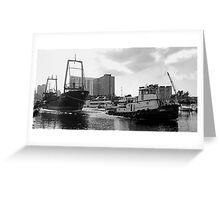 River Tug Greeting Card