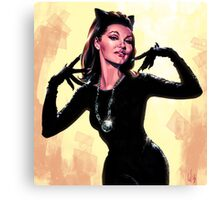 Retro Catwoman Canvas Print