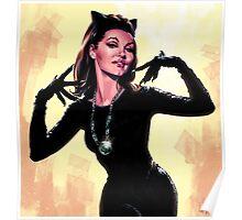 Retro Catwoman Poster