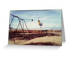 Swing Jump Nostalgia! Greeting Card