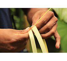Weaving Hands Photographic Print
