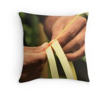 Weaving Hands Throw Pillow