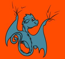 Cyan (Teal) Baby Dragon Rider Kids Clothes