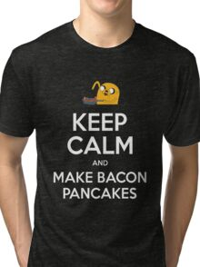 Keep Calm and Make Bacon Pancakes Tri-blend T-Shirt