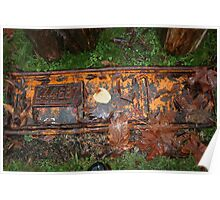 vintage rusty licence plate Poster
