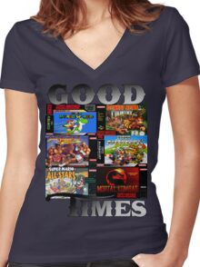 Good Times Women's Fitted V-Neck T-Shirt
