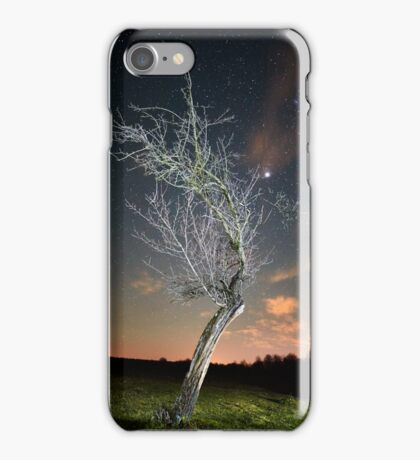 Night landscape with tree iPhone Case/Skin