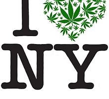 I love NY Marijuana  by turfinterbie