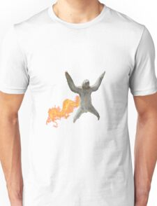Majestic sloth flying . Unisex T-Shirt