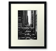 Chicago Street and The Loop Framed Print