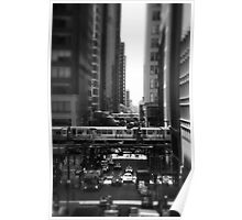 Chicago Street and The Loop Poster