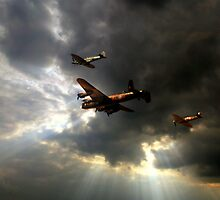 The Royal Air Force Battle of Britain Memorial Flight  by larry flewers