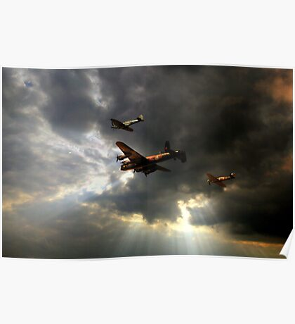 The Royal Air Force Battle of Britain Memorial Flight  Poster