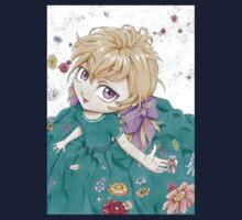 Petite fille en fleur One Piece - Short Sleeve