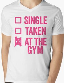 Single, Taken, At The Gym Mens V-Neck T-Shirt
