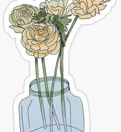 Flowers in a Vase Sticker