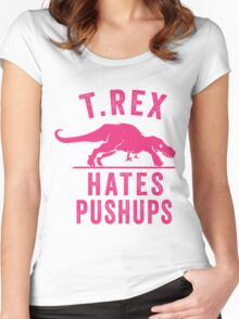 T Rex Hates Pushups Women's Fitted Scoop T-Shirt