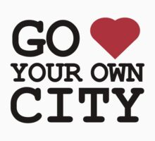 Go heart your own city Kids Tee