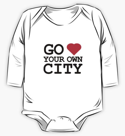 Go heart your own city One Piece - Long Sleeve