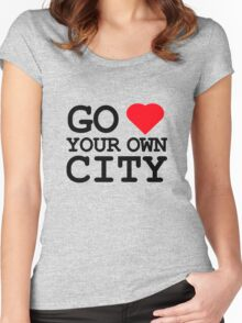 Go heart your own city Women's Fitted Scoop T-Shirt