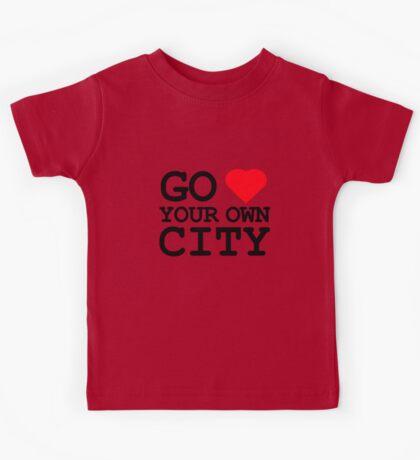 Go heart your own city Kids Tee