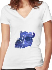 Riki Artwork Women's Fitted V-Neck T-Shirt