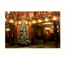 Christmas at Flagler College Art Print