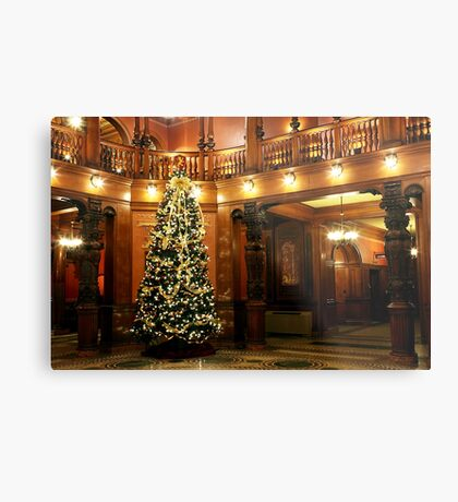Christmas at Flagler College Metal Print