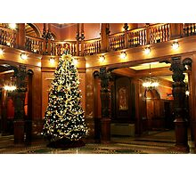 Christmas at Flagler College Photographic Print