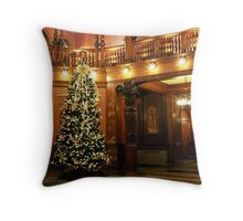 Christmas at Flagler College Throw Pillow