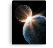 Epic Two World Collision Canvas Print