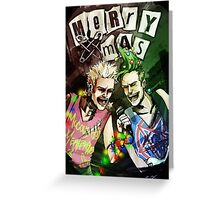 Merry Punk Christmas Card Greeting Card
