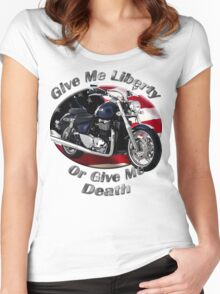 Triumph Thunderbird Give Me Liberty Women's Fitted Scoop T-Shirt