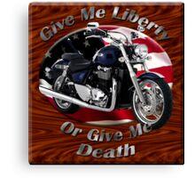 Triumph Thunderbird Give Me Liberty Canvas Print