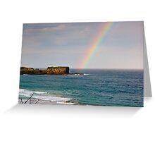Rainbow over Bombo Headland Greeting Card